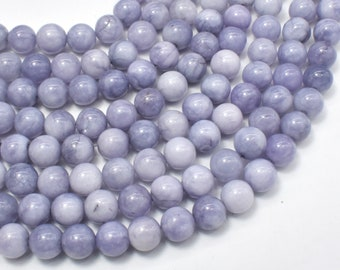 Jade Beads-Gray, 8mm Round Beads, 15 Inch, Full strand, Approx 48 beads, Hole 1mm (211054206)