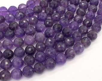 Amethyst Beads, 10mm Faceted Round, 15.5 Inch, Full strand, Approx 40 beads, Hole 1mm, A quality (115025007)