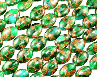 Mosaic Stone Beads, Oval, 13 x 18mm, 15 Inch. Full strand, 22 beads, Hole 1 mm (327030003)