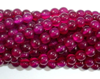 Fuchsia Agate Beads, 6mm Round Beads, 15 Inch, Full strand, Approx 63 beads, Hole 1mm, A+ quality (122054014)