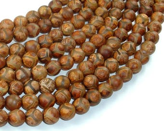 Tibetan Agate, 8mm(8.3mm) Round Beads, 15.5 Inch, Full strand, Approx 48 beads, Hole 1.2mm (122054271)