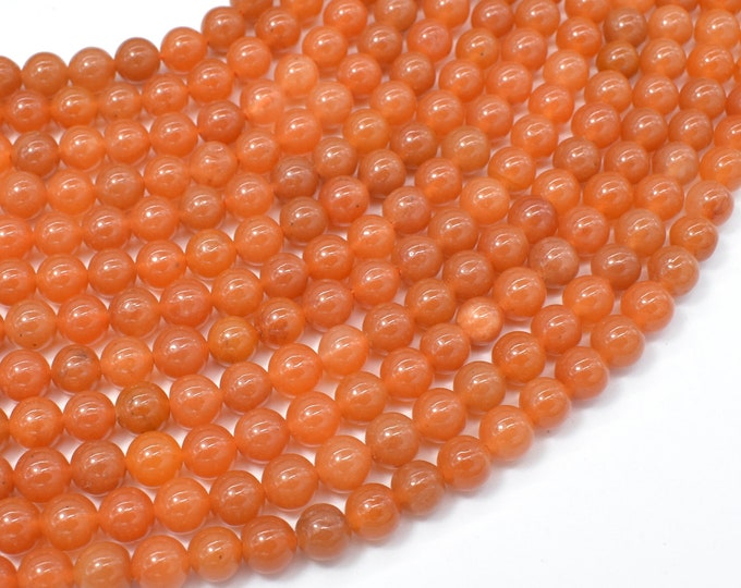 Red Aventurine Beads, 6mm(6.3mm) Round Beads, 15.5 Inch, Full strand, Approx 63 beads, Hole 1mm (367054004)