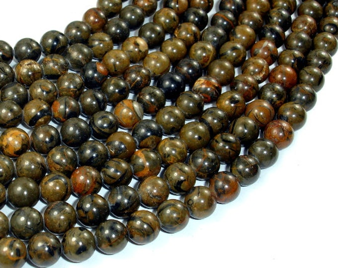 Space Stone Jasper Beads, 8mm Round Beads, 15.5 Inch, Full strand, Approx 49 beads, Hole 1 mm, A quality (288054031)