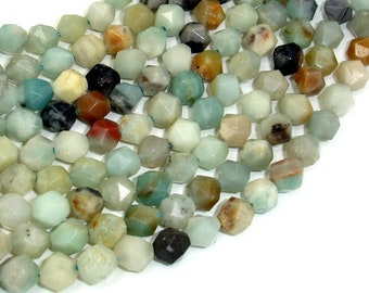 Amazonite Beads, 8mm Star Cut Faceted Round, 15 Inch, Full strand, Approx 47 beads, Hole 1mm (111186002)
