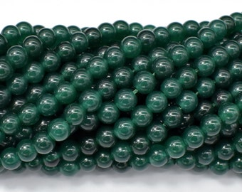 Jade Beads-Emerald, 6mm (6.3mm) Round Beads, 15 Inch, Full strand, Approx 66 beads, Hole 1mm (211054189)