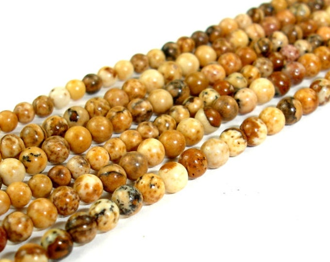 Picture Jasper Bead, Round, 2mm, 16 Inch, Full strand, Approx 185 beads, Hole 0.4 mm (345054005)