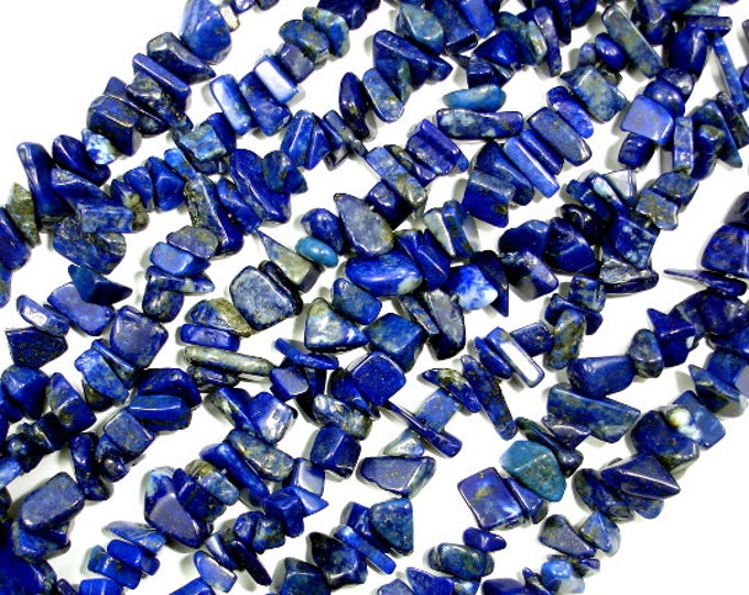 Lapis Lazuli Beads, 5-9mm Chips, 34 Inch, Full strand, Hole 0.8 mm (298005002)