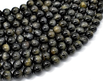 Blue Tiger Eye, 8mm Round Beads, 15.5 Inch, Full strand, Approx 49 beads, Hole 1mm, A- quality (165054012)