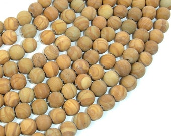 Matte Wood Jasper Beads, Round, 8mm, 15.5 Inch, Full strand, Approx 47 beads, Hole 1 mm, A quality (437054009)