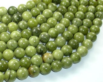 Jade Beads, 10mm(10.3mm) Round Beads, 15 Inch, Full strand, Approx 38 beads, Hole 1mm, A quality (287054036)