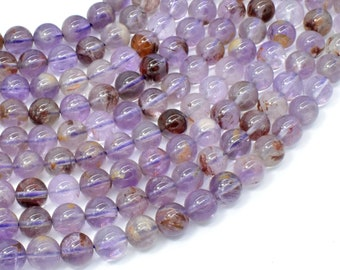 Super Seven Beads, 8mm (8.5mm) Round Beads, 15.5 Inch, Full strand, Approx 49 beads, Hole 1mm (460054001)