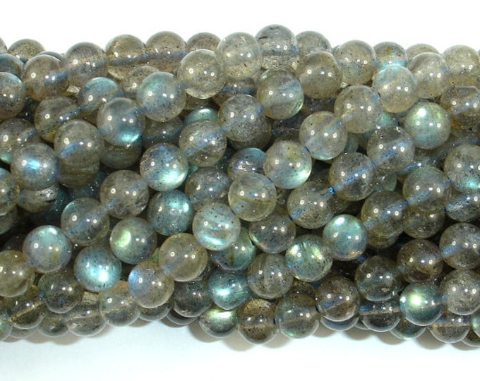 Labradorite Beads, 5.8mm (5.5mm) Round Beads, 15.5 Inch, Full strand, Approx 70-73 beads, Hole 0.8 mm, AA quality (295054007)