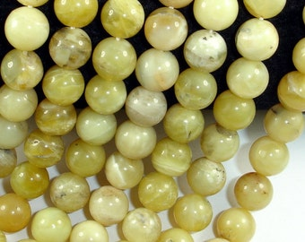 Yellow Opal Beads, 10 mm, Round Beads, 15.5 Inch, 1 strand, Approx 38 beads, Hole 1 mm (442054003)