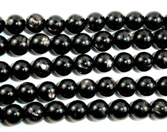 Hypersthene, Round  8mm beads, 15.5 Inch, Full strand, Approx 50 beads, Hole 1 mm, AA quality (276054002)