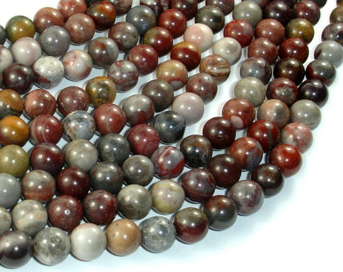 Fantasy Jasper Beads, 8mm(8.4mm) Round Beads, 15.5 Inch, Full strand, Approx 48 beads, Hole 1 mm, A quality (246054002)