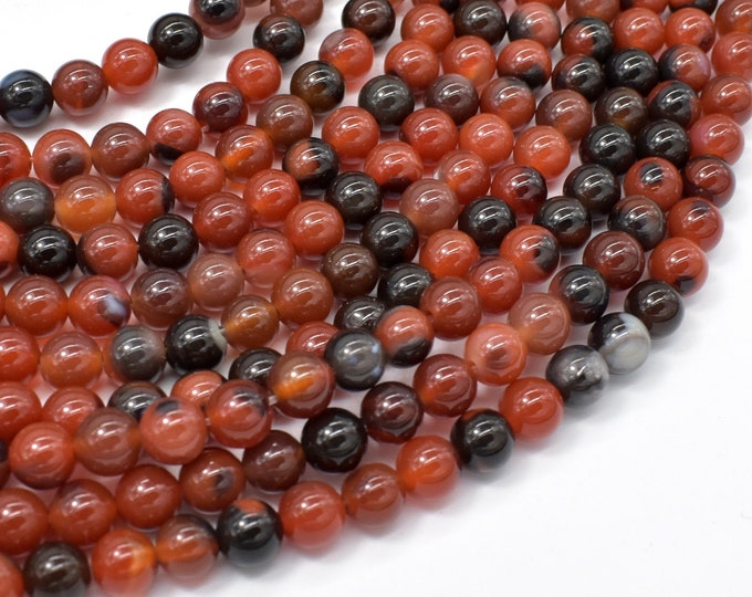 Sardonyx Agate Beads, 6mm (6.3mm) Round Beads, 14.5 Inch, Full strand, Approx 62 beads, Hole 1mm (122054287)