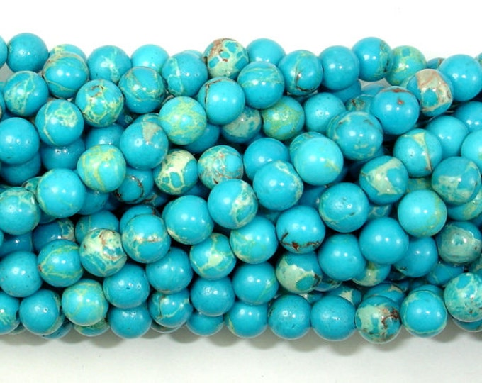 Blue Impression Jasper, 6mm(6.5mm) Round Beads, 15 Inch, Full strand, Approx 62 beads, Hole 1 mm (281054029)