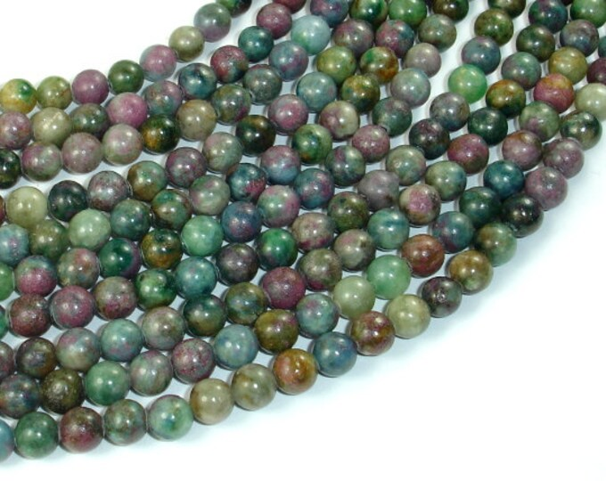 Ruby Apatite, Ruby in Kyanite, 6mm (6.3mm) Round Beads, 15.5 Inch, Full stand, Approx 64 beads, Hole 1mm, A quality (309054001)