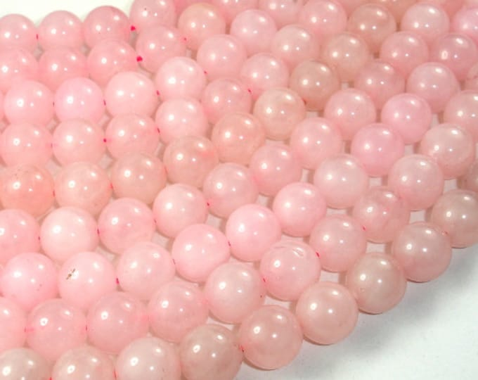 Rose Quartz Beads, Round, 12 mm, 15 Inch, Full strand, Approx 32 beads, Hole 1 mm (391054005)