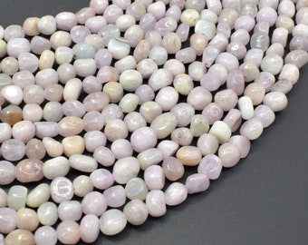 Kunzite, 6x7mm Nugget Beads, 15.5 Inch, Full strand, Approx 62-65 beads, Hole 1mm (293047001)