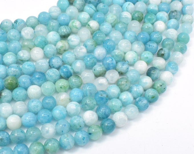 Hemimorphite Beads, 6mm Round Beads, 15.5 Inch, Full strand, Approx 66 beads, Hole 1mm (271054006)