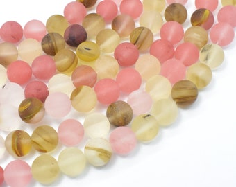 Matte Fire Cherry Quartz Beads, 10mm (10.5mm) Round Beads, 15.5 Inch, Full strand, Approx 38 beads, Hole 1mm (422054008)