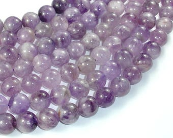 Light Amethyst, 12mm Round Beads, 15.5 Inch, Full strand, Approx 32 beads, Hole 1mm (115054050)