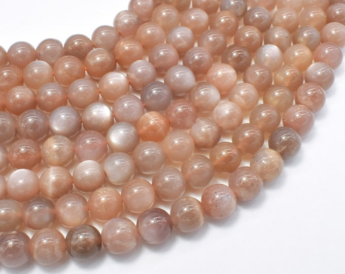 Sunstone Beads, 8mm Round Beads, 15 Inch, Full strand, Approx 48-50 beads, Hole 1mm (418054015)