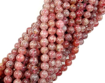 Strawberry Quartz, Lepidocrocite, 6mm(6.5mm) Round Beads, 15.5 Inch, Full strand, Approx 62-67 beads, Hole 0.8 mm (415054007)