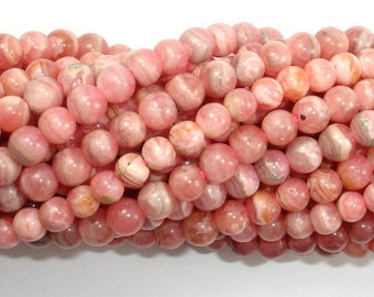 Rhodochrosite Beads, 4.2 mm-4.5 mm Round Beads, 15.5 Inch, Full strand, Approx 85-95 beads, Hole 0.6 mm, A quality (385054013)