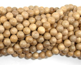 Silkwood Beads, 6mm(6.2mm) Round Beads, 26 Inch, Full strand, Approx 108 Beads, Mala Beads (011739002)