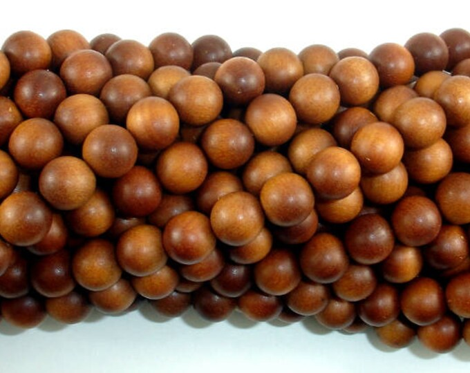 Sandalwood Beads, 8mm(8.2mm) Round Beads, 35 Inch, Full strand, Approx 108 Beads, Mala Beads (011747001)