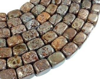 Brown Snowflake Obsidian Beads, 10 x 15 mm Nugget Beads, 15.5 Inch Full strand, Approx 29 beads, Hole 1 mm (193047001)