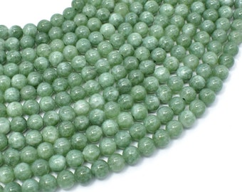 Malaysia Jade Beads- Burma Color, 6mm (6.4mm) Round Beads, 15 Inch, Full strand, Approx 62 beads, Hole 1mm, A quality(211054179)