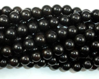 Black Sandalwood Beads, 10mm Round Beads, 42 Inch, Full strand, Approx 108 Beads, Hole 1.2mm, Mala Beads (011732003)
