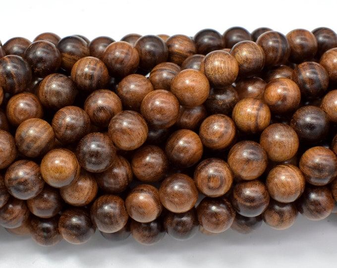 Black Rosewood Beads, 8mm Round Beads, 33 Inch, Full strand, Approx 108 Beads (011749002)