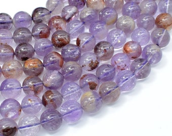 Super Seven Beads, 10mm Round Beads, 15.5 Inch, Full strand, Approx 39-40 beads, Hole 1mm (460054002)