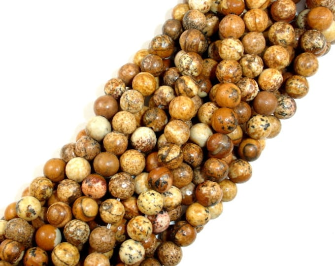 Picture Jasper Beads Round, 6mm (6.5mm), 15.5 Inch, Full strand, Approx 62 beads, Hole 1mm (345054001)