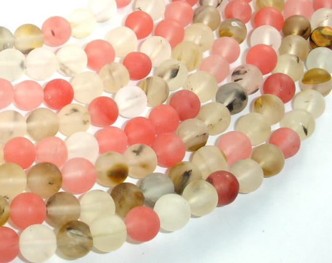 Matte Fire Cherry Quartz Beads, 8mm (8.3mm) Round Beads, 15 Inch, Full strand, Approx 47 beads, Hole 1mm (422054007)