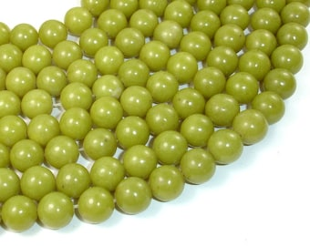 Olive Jade Beads, 10mm Round Beads, 15.5 Inch, Full strand, Approx 39 beads, Hole 1mm, A quality (332054004)
