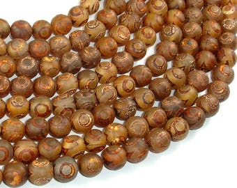 Tibetan Agate, 10mm(10.2mm) Round Beads, 15 Inch, Full strand, Approx 39 beads, Hole 1.2mm (122054274)