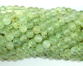 Prehnite Beads, 6mm(6.2mm) Round Beads, 15.5 Inch, Full strand, Approx 64-68 beads, Hole 1mm(265054005)