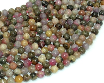Tourmaline Beads, 6mm Round Beads, 15.5 Inch, Full strand, Approx 66 beads, Hole 0.8mm, AB quality (427054016)