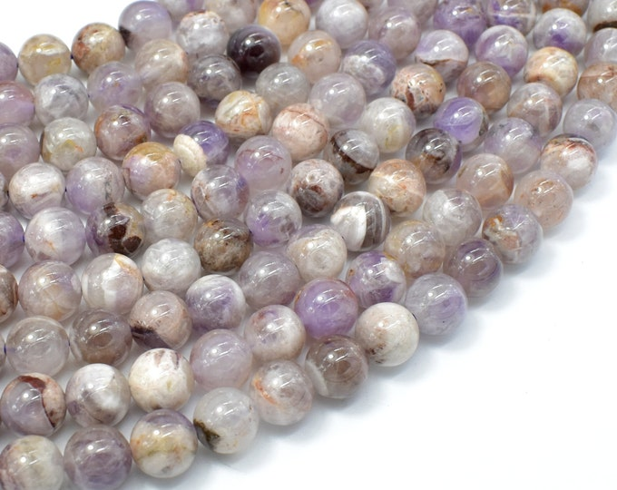 Amethyst, Dog Tooth Amethyst, 8mm(7.8mm) Round Beads, 15.5 Inch, Full strand, Approx 49-51 beads, Hole 0.8mm (115054057)