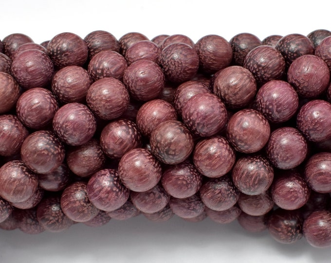 Purple Sandalwood Beads, 8mm Round Beads, 34 Inch, Full strand, Approx 108 Beads, Mala Beads (011750002)