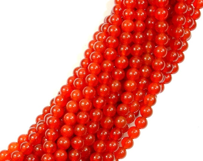 Carnelian Beads, Round, 4mm, 15 Inch, Full strand, Approx 92 beads, Hole 1mm, A quality (182054021)