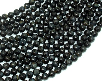 Blue Tiger Eye Beads, Round, 6mm, 15.5 Inch, Full strand, Approx 63 beads, Hole 0.8mm (165054005)