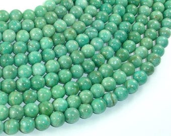 African Amazonite Beads, 7.5mm Round Beads , 15.5 Inch, Full strand, Approx 53-55 beads, Hole 1mm (103054003)