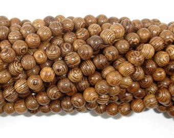 Wenge Wood Beads, 6mm(6.3mm) Round Beads, 25 Inch, Full strand, Approx 108 Beads, Mala Beads (011735001)