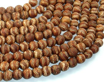 Crackle Tibetan Agate, 8mm Round Beads, 14.5 Inch, Full strand, Approx 49 beads, Hole 1.2mm (122054268)
